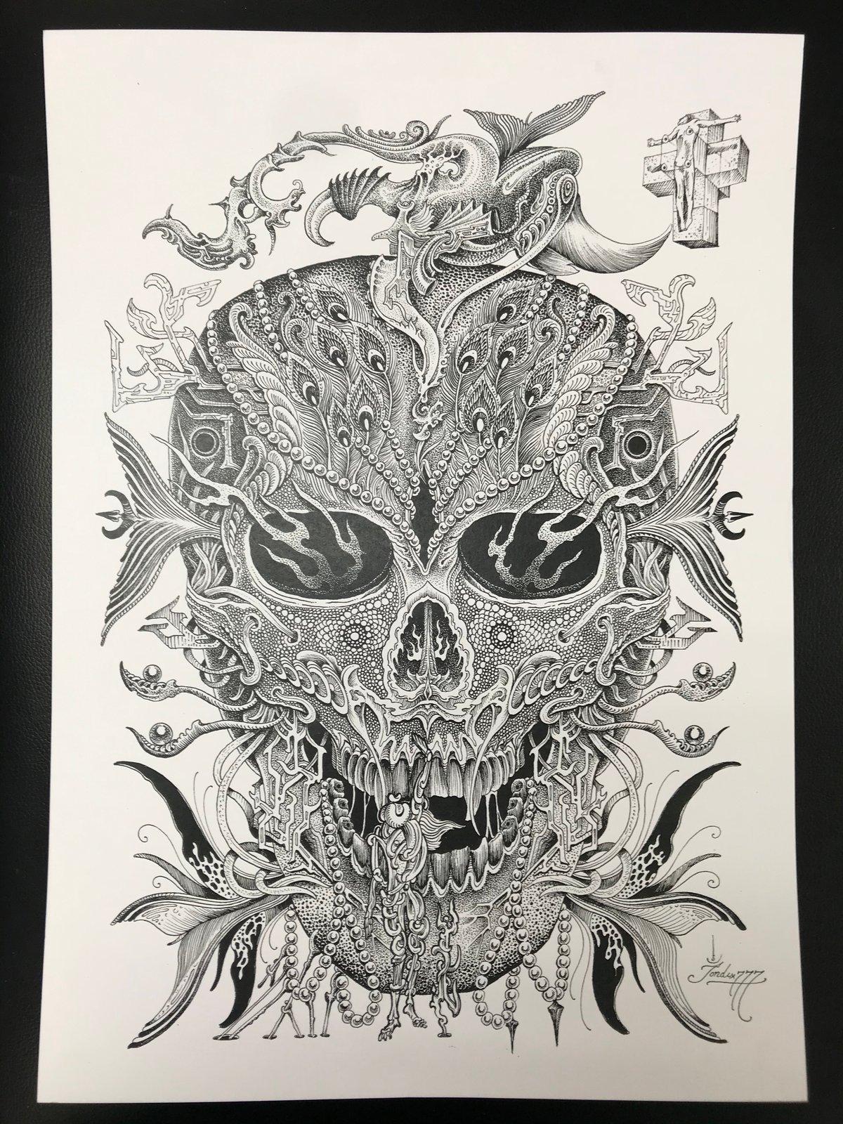 Image of Jondix Skull print