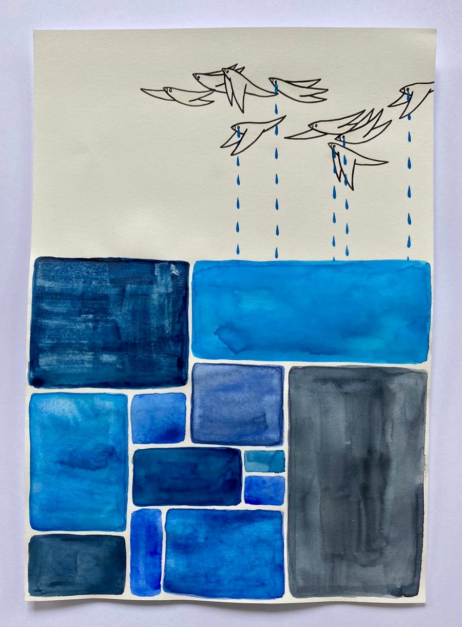 Image of 'Accumulation of Blues'