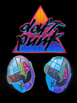Image of Daft CyberPunk 2077 Pin - Shiny Gun Metal Finish
