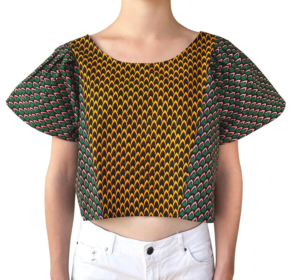 Image of Feathers Wax Crop Top