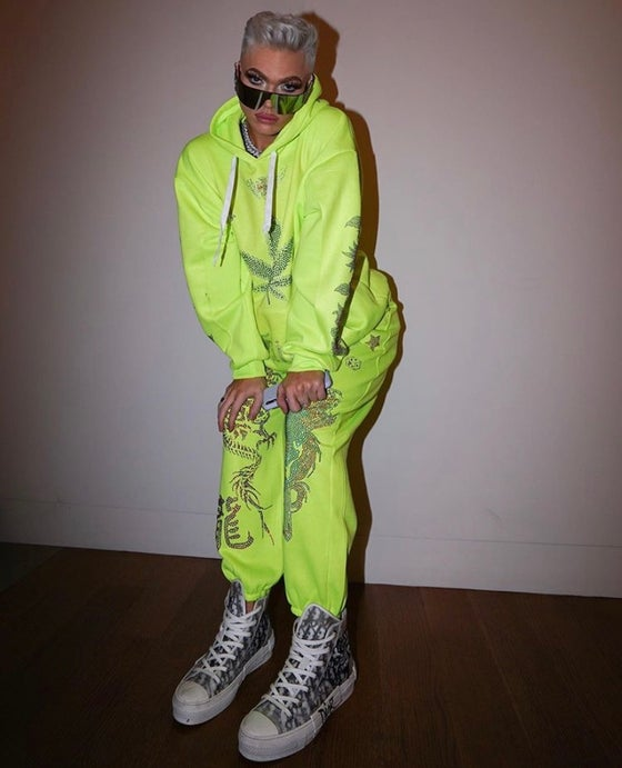 Image of Neon bling sweat suit