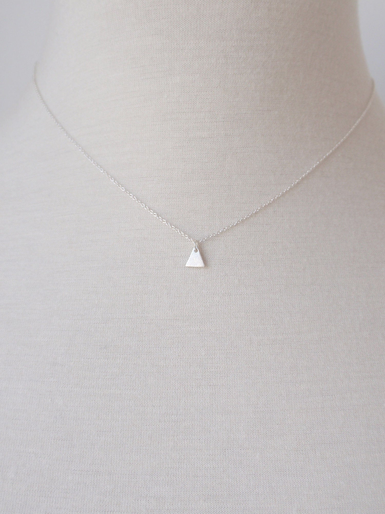 Image of Tiny Triangle Necklace