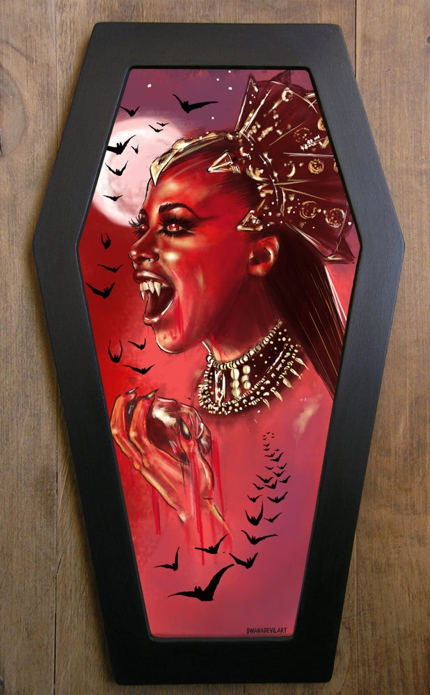 Image of Limited Edition Queen of Damned Coffin framed art prints