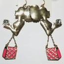 Image 1 of In The Bag Heart In Hand Tasty Shopper Earrings
