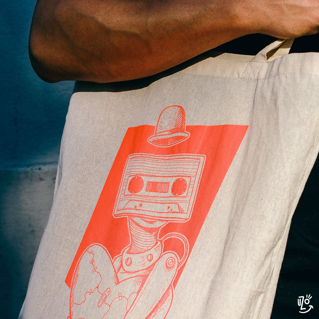Image of Tote bag - Love Mixtape Robot