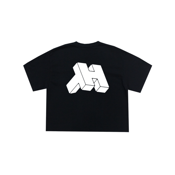 Image of CONSOLE ® LOGO (WMNS) CROPTOP T-SHIRT (BLACK / MILK)