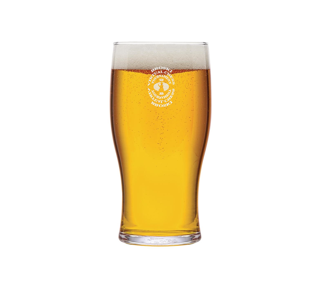 Image of Broski - Official Virtual Chess Tournament 2020 Commemorative Pint Glass