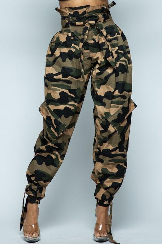Image of High Waist Camo Pants
