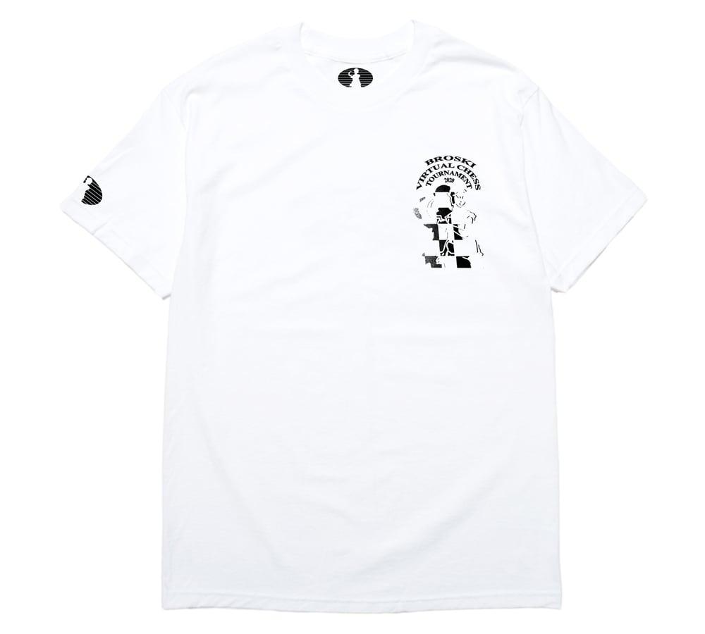 Image of Broski - Official Virtual Chess Tournament 2020 C T Shirt White