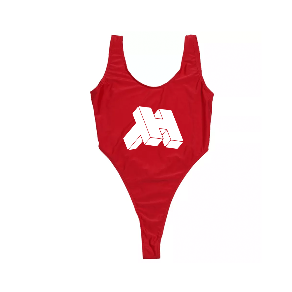 Image of CONSOLE ® LOGO (WMNS) ONE-PIECE BIKINI (CHERRY / MILK)