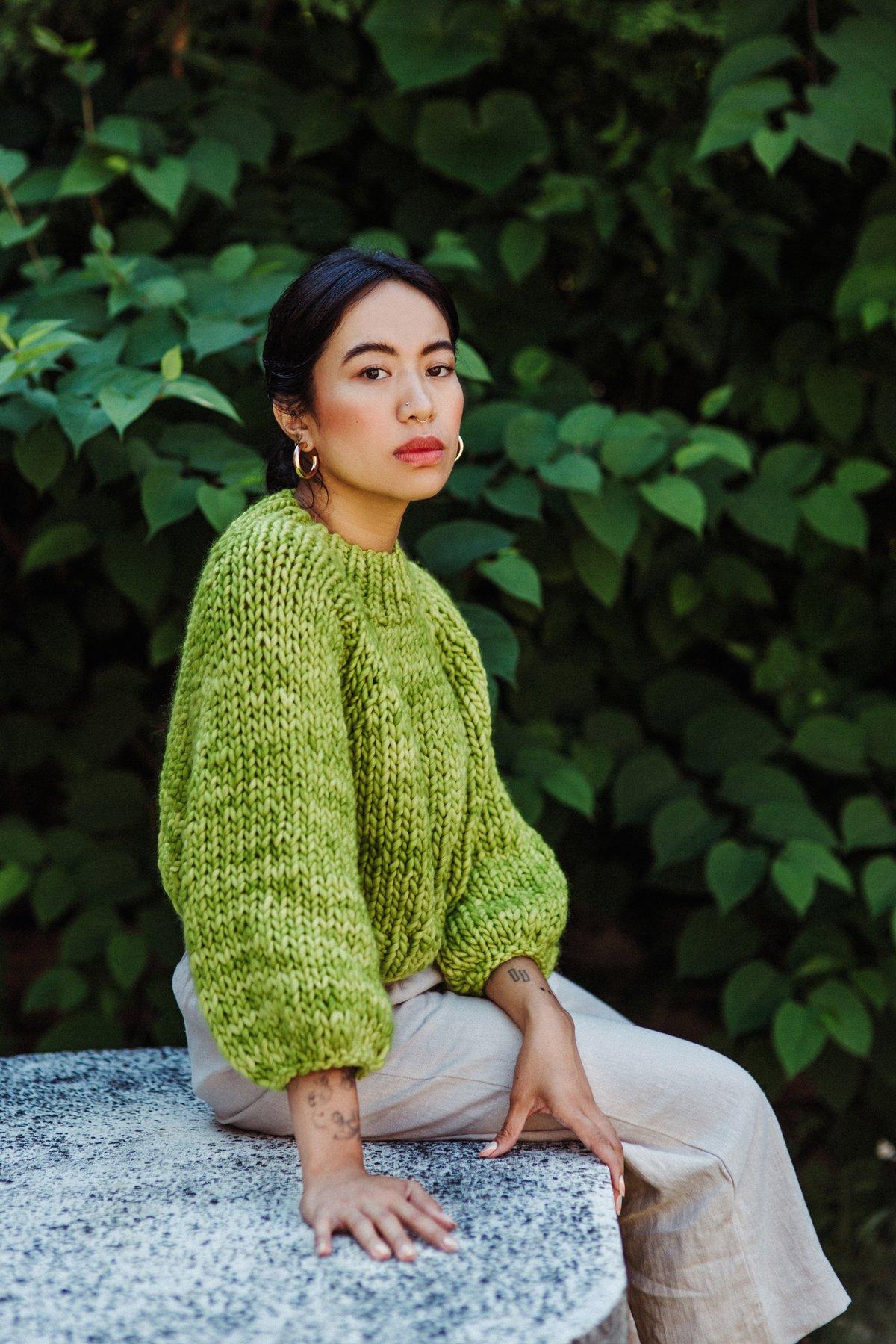 Image of Frid X Malabrigo Merino Knitting Kit (shown in Lettuce- more colours)