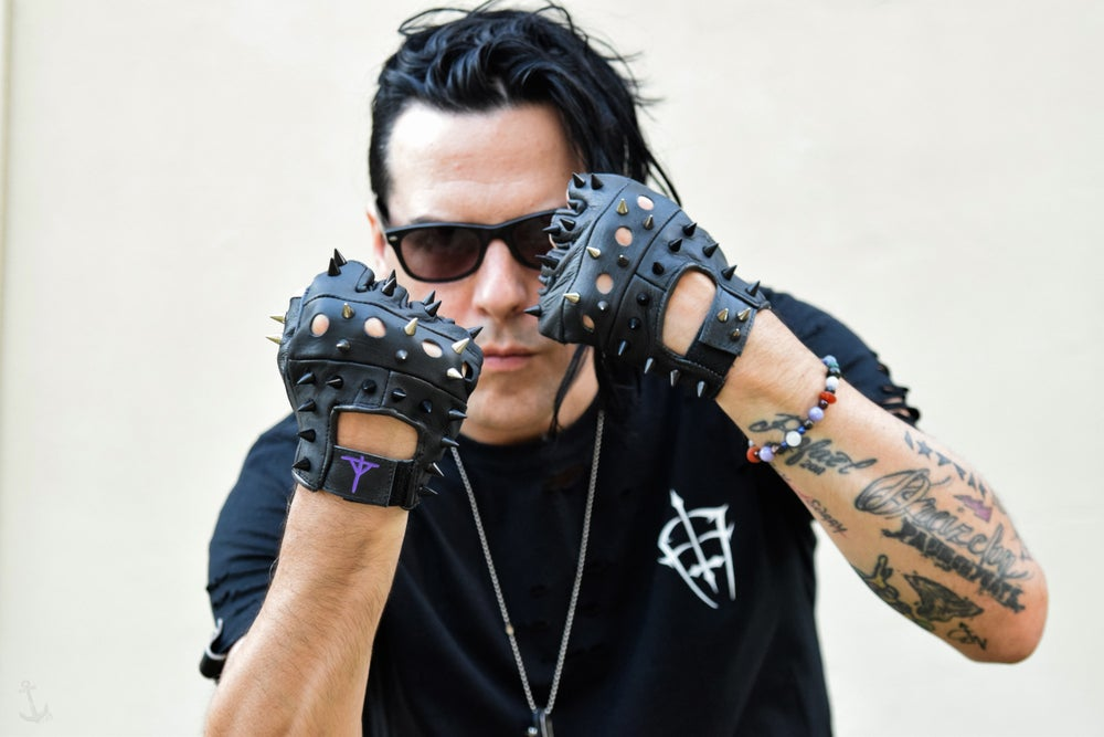 Image of ERIC13 x FOR THE FLY LEATHER GLOVES