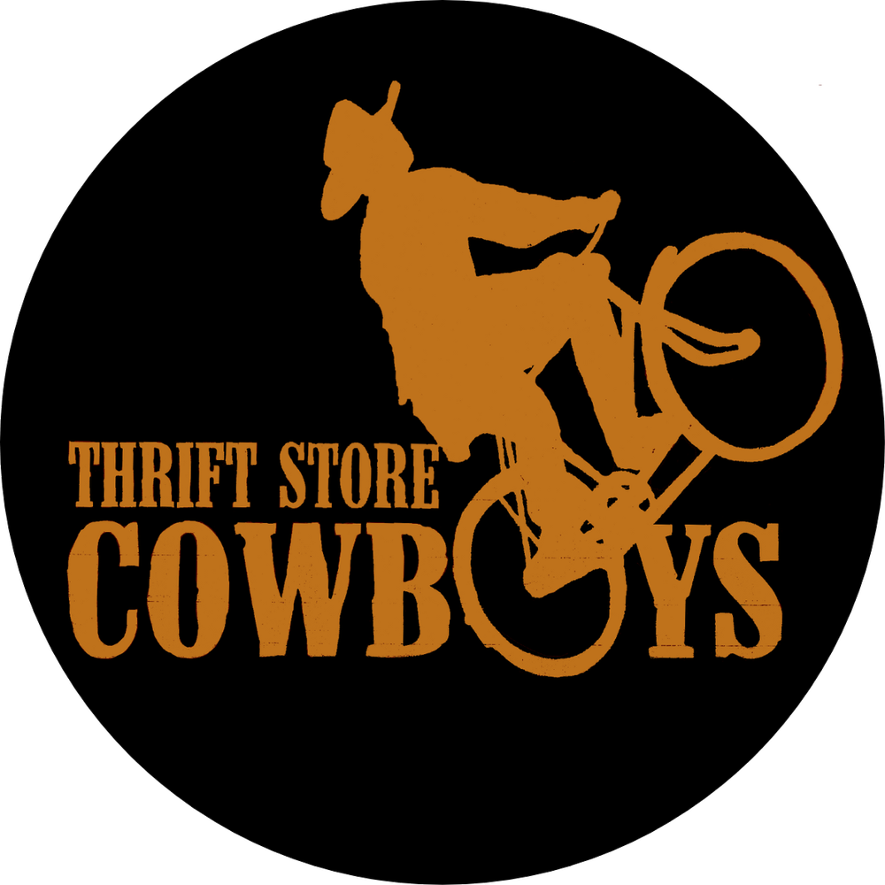 Image of Cowboy Bike Round Sticker