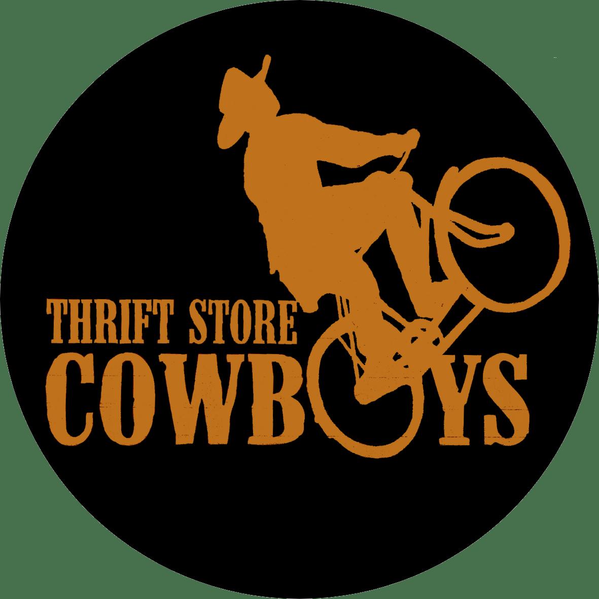 Image of Cowboy Bike Round Sticker