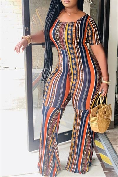 Image of Boho Style Printed Jumpsuit