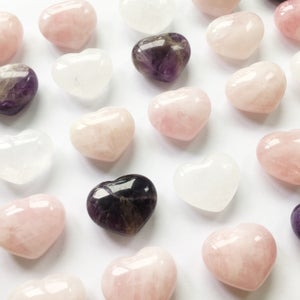 Image of Sending Love - Rose Quartz Crystal Heart