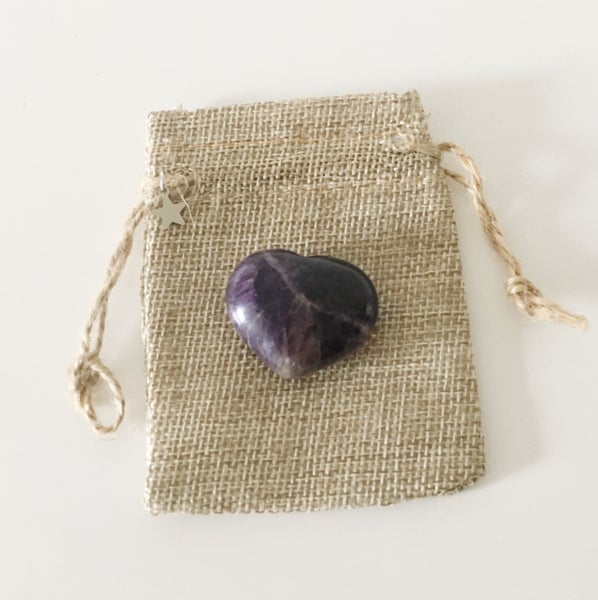 Image of Sending Good Vibes - Amethyst Crystal Heart