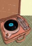 Image of portable record player #5 - print - illustration