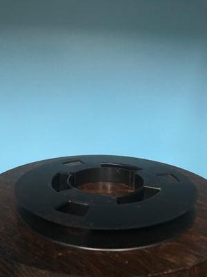 "Image of 1/2"" X 7"" NAB Open Center Plastic  Reel  Black RTM RMG ATR"