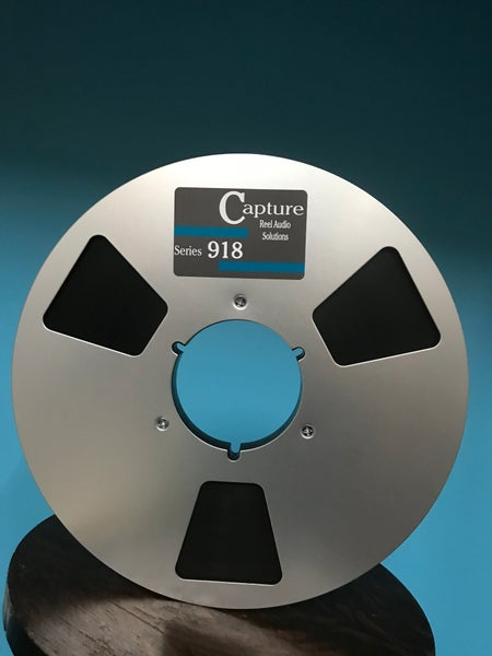 "Image of CAP918 1/4"" x 2500' on 10.5"" Metal Reel in White Box"