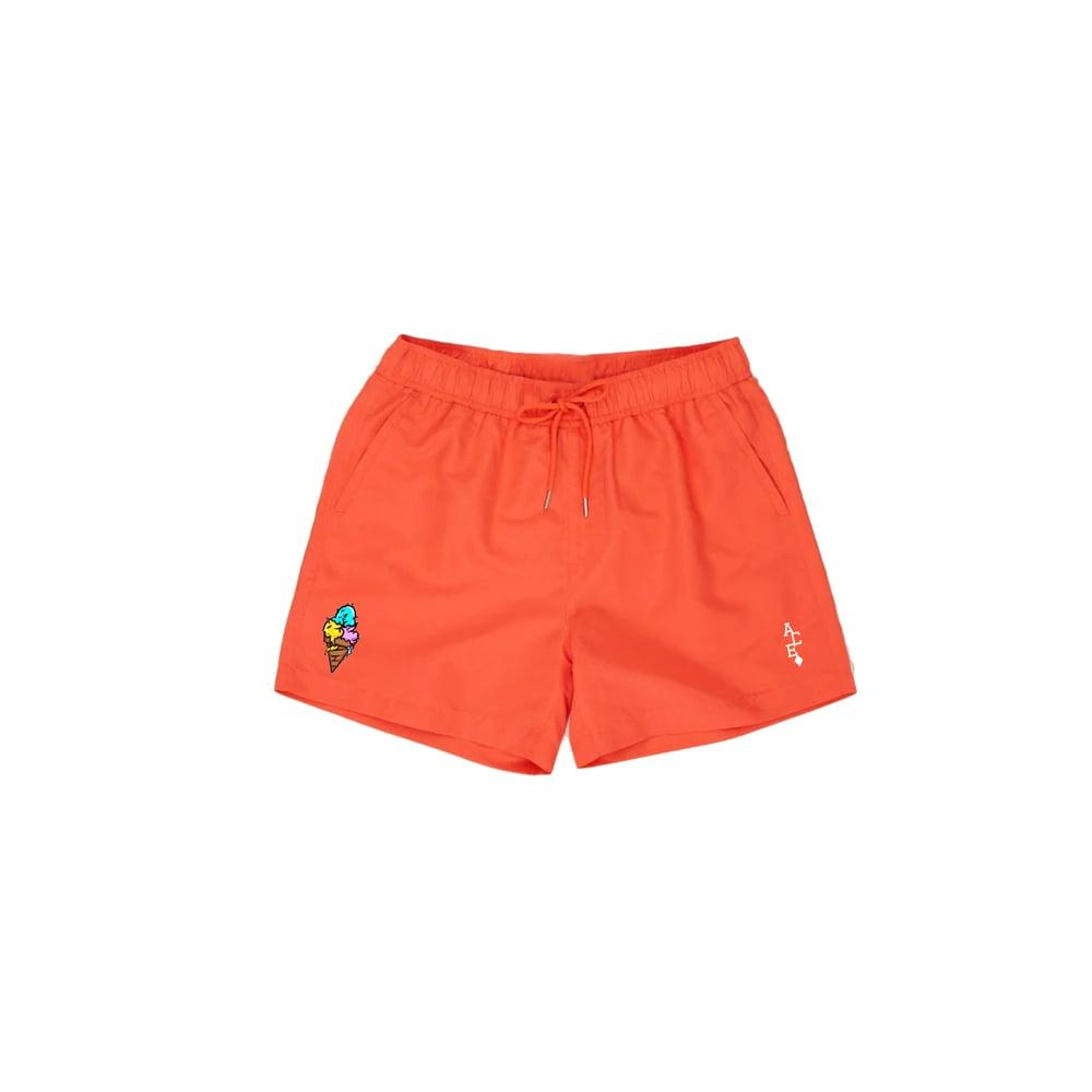 Image of ACE Cream Swim Trunks Orange - Mens