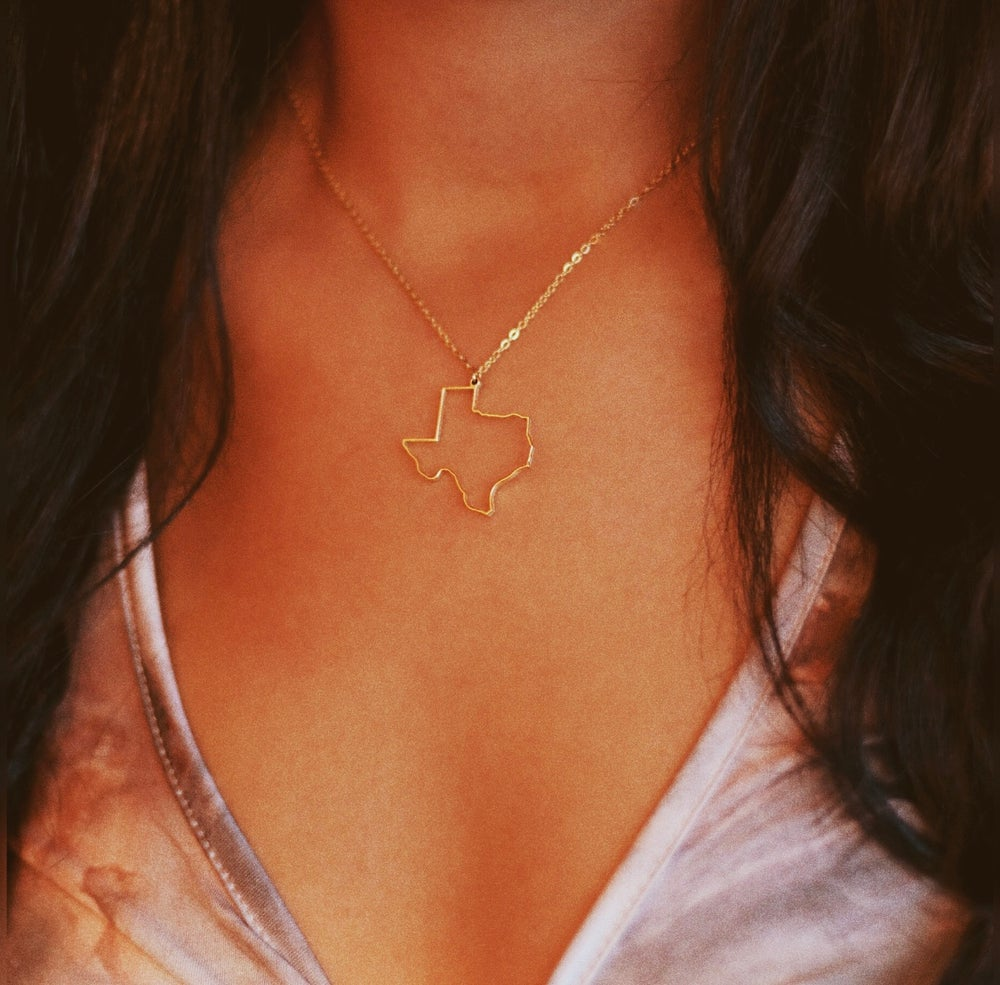 Image of TX Outlined Necklace