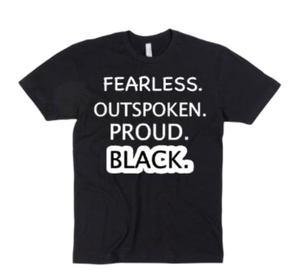 "Black/White ""Fearless"" Tee"