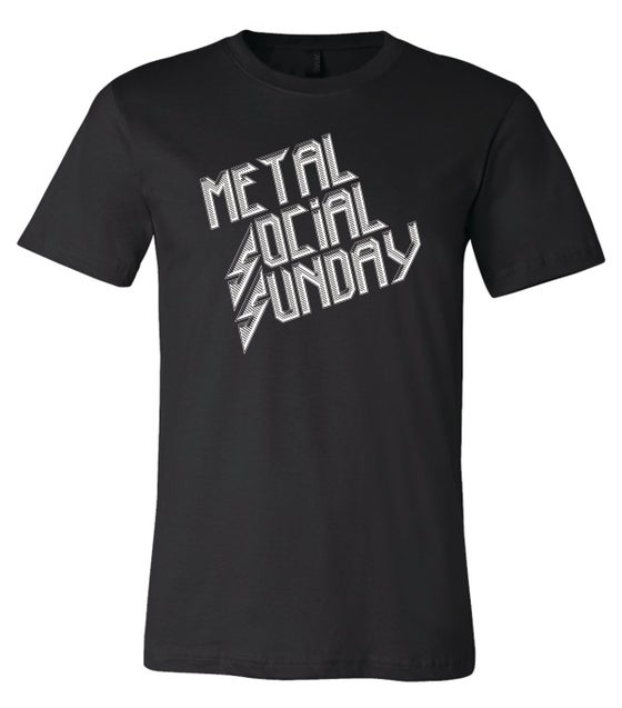 "Image of OFFICIAL - ""METAL SOCIAL SUNDAY"" - BLACK SHIRT"