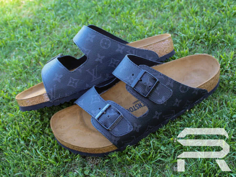 "Image of ""Black LV"" Inspired Birkenstock"