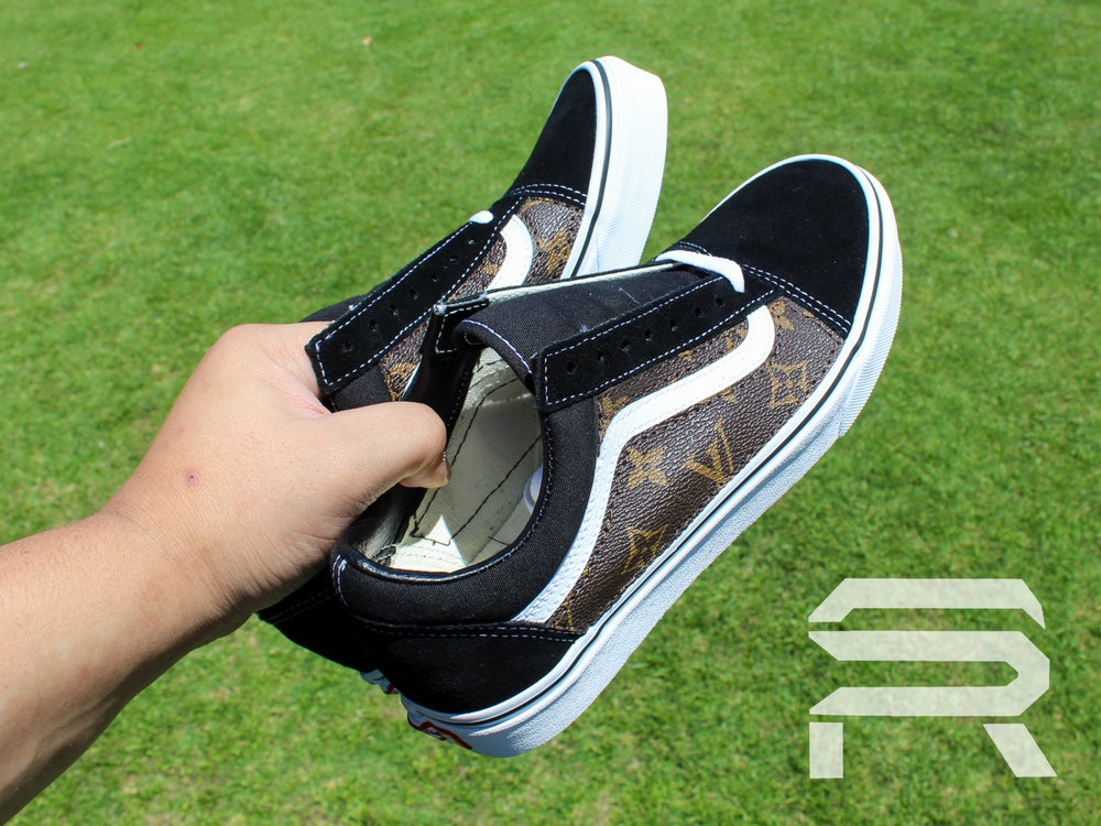 "Image of ""Double-Sided"" LV Vans Old Skool Lows"