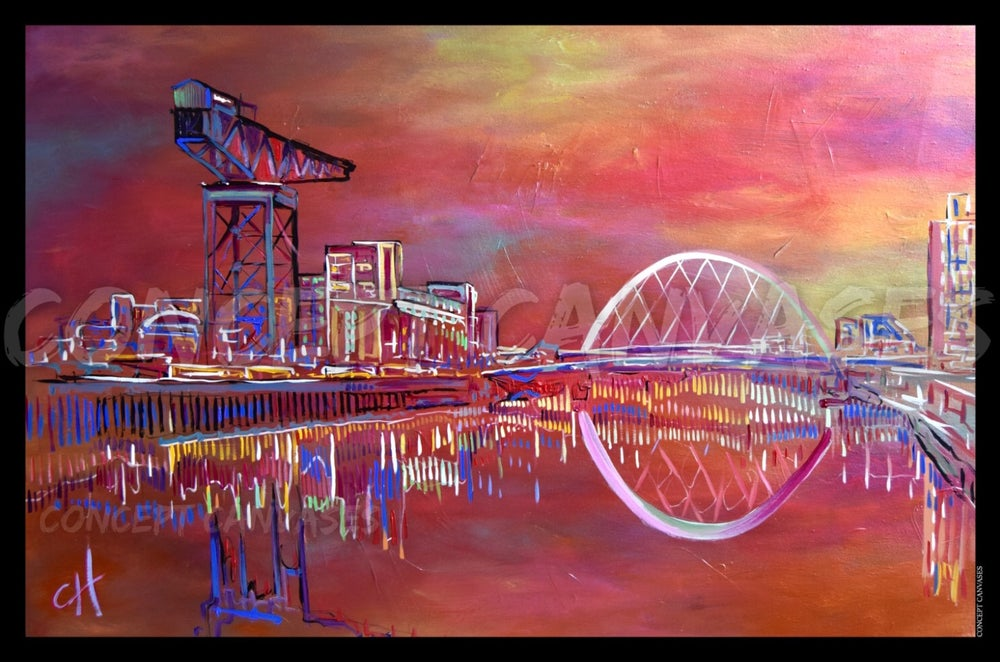 Image of Glasgow 'Colours' High Quality A1 Print (Large)