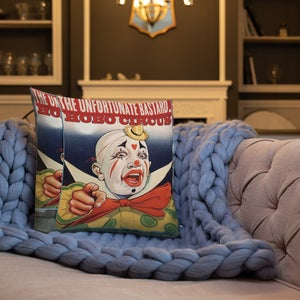 "Image of The Unfortunate Bastard ""Hobo Circus"" - Premium Pillow"