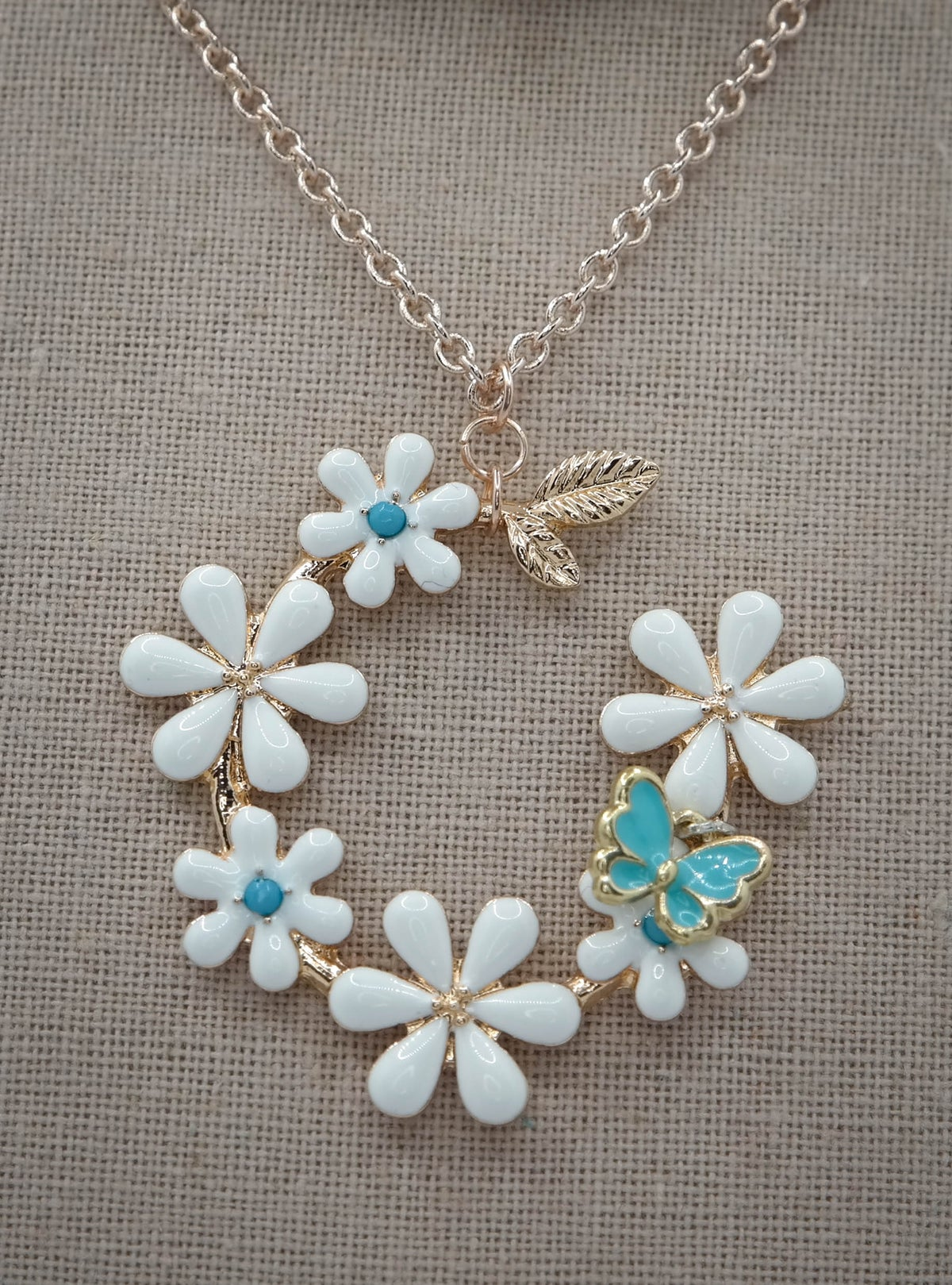 Limited Edition <br /> <br /> Necklace <br /> Mint Butterfly