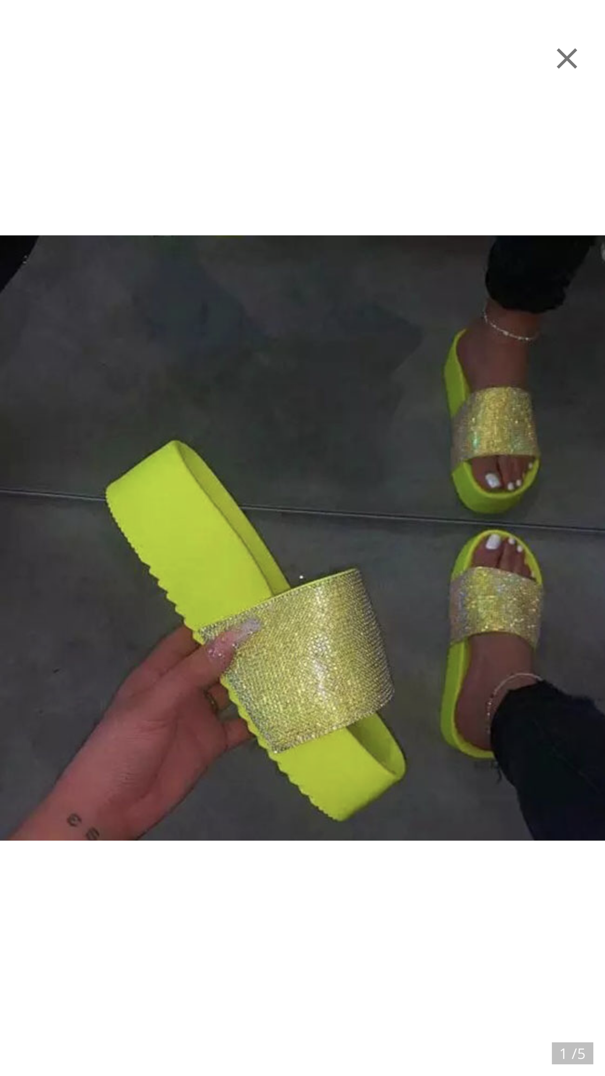 "Image of ""Platform Bling"" Slides"