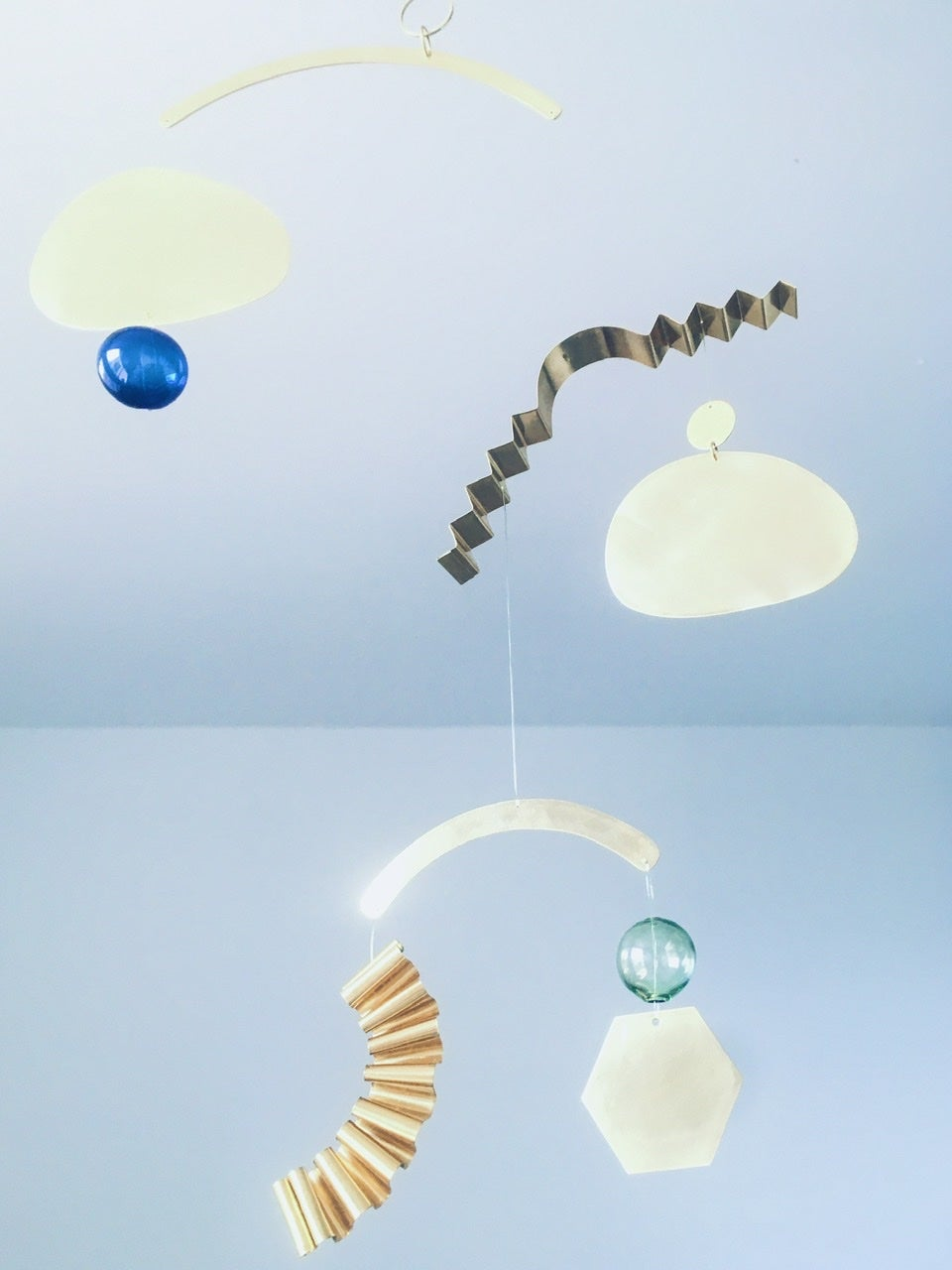 Image of Brass and Glass Kinetic Sculpture 010