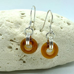Image of Autumn Leaves Wheel Earrings
