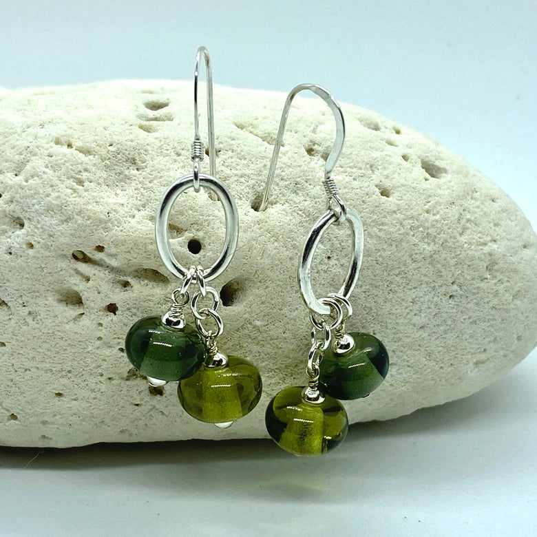 Image of Light Rock Hound Double Earrings