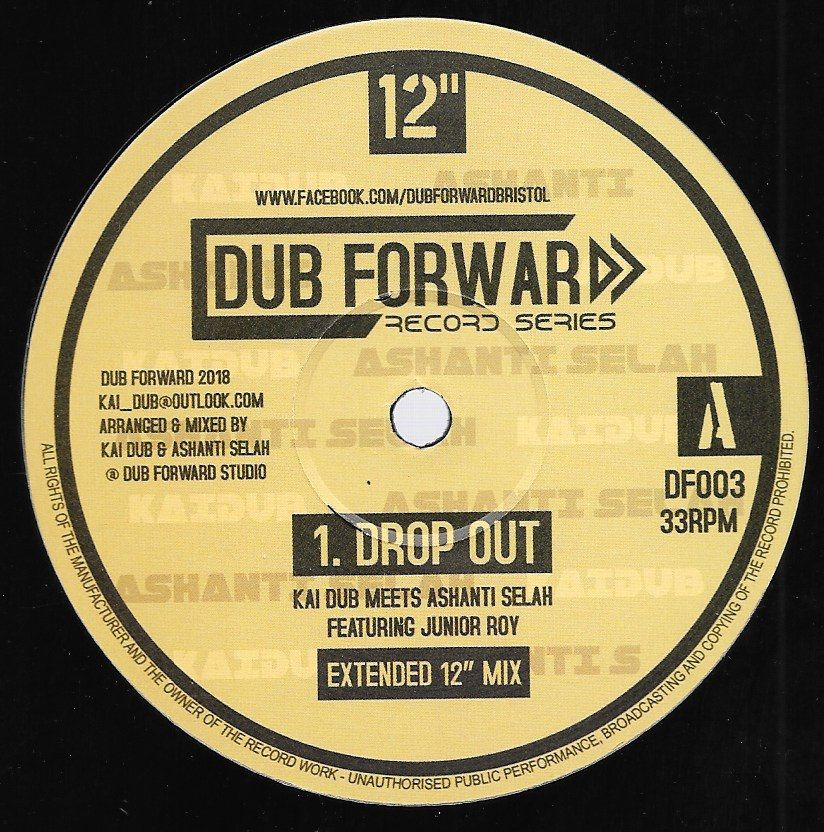 Kai Dub meets Ashanti Selah ft Junior Roy - Drop Out / Arising / Dub [Dub Forward] 12""