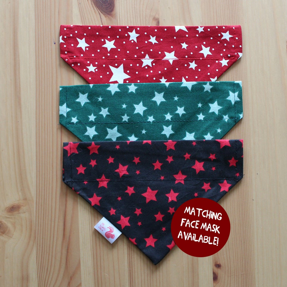 Image of Stars reversible dog & cat bandana