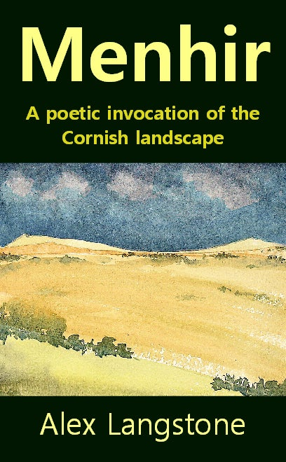 Image of Menhir: A Poetic Invocation of the Cornish Landscape (signed by author).
