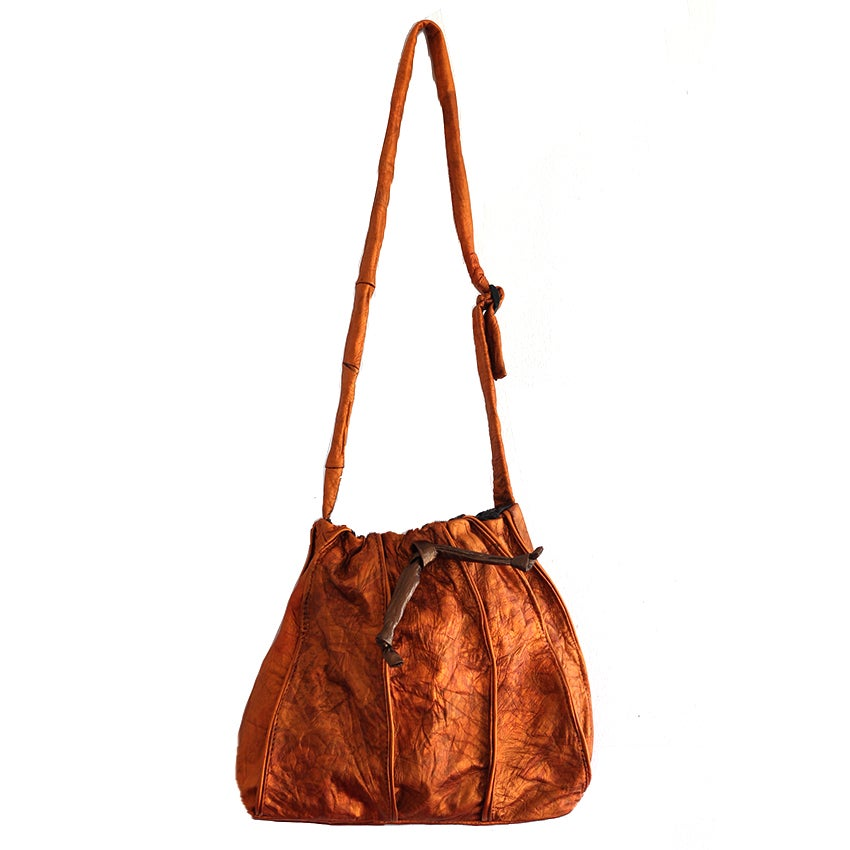 Image of Wura copper bucket bag
