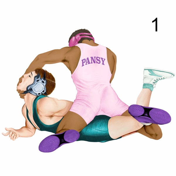 Image of Prints - Wrestlers