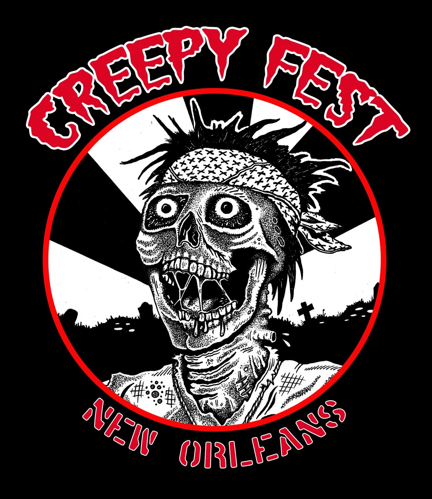 Image of Creepy Fest Circle Logo Shirt