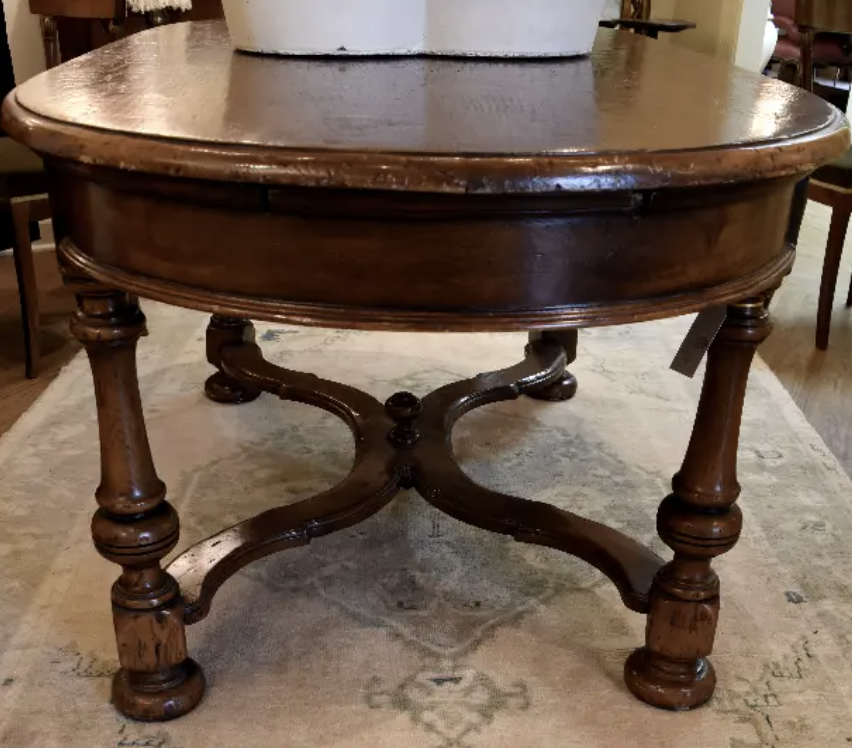 Image of 19th Century French Chestnut Oval Table