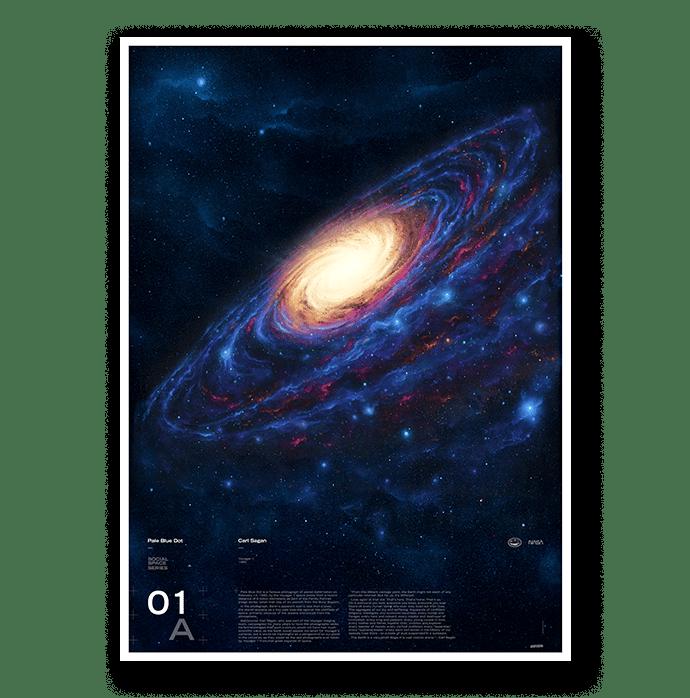 Image of Pale Blue Dot - [Giclée Print]