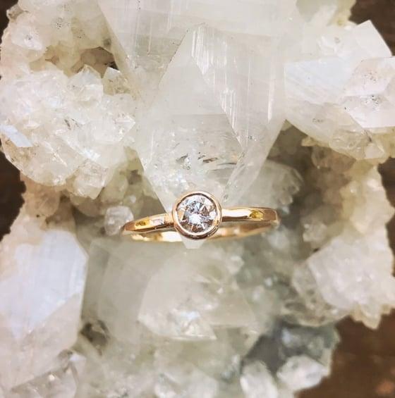Image of Custom diamond ring for Jordan