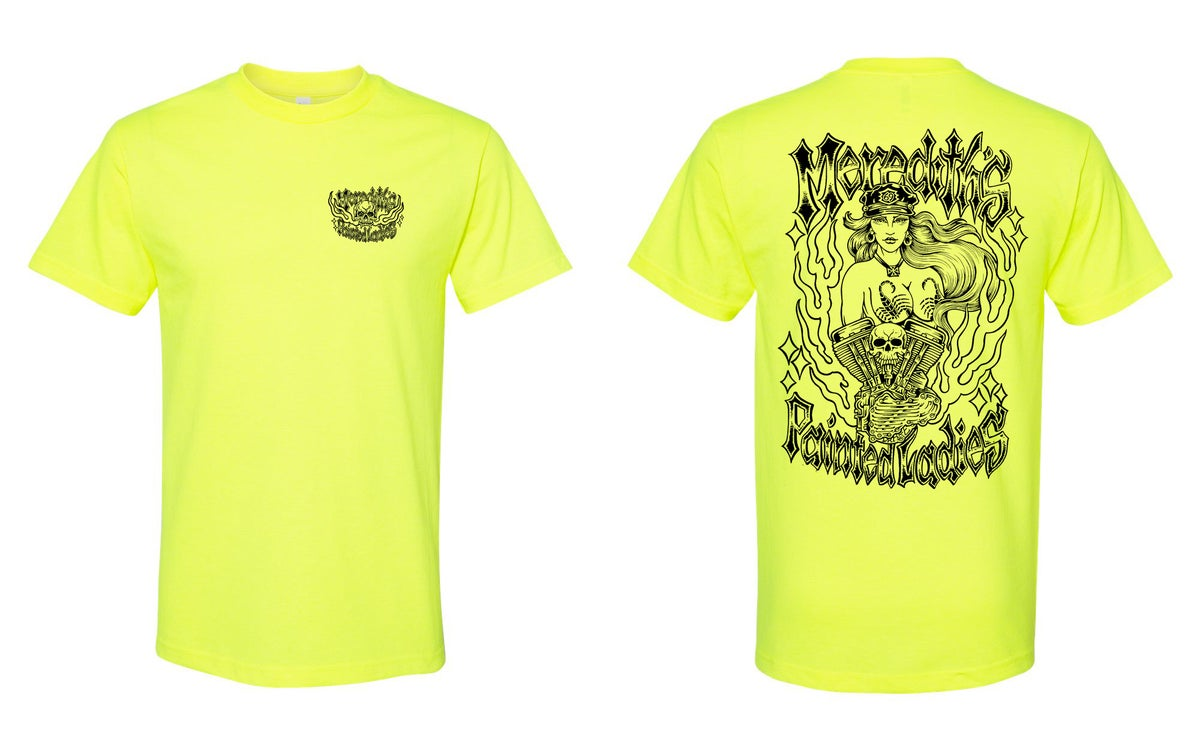 Image of Painted Ladies Forever Tee in Safty Green