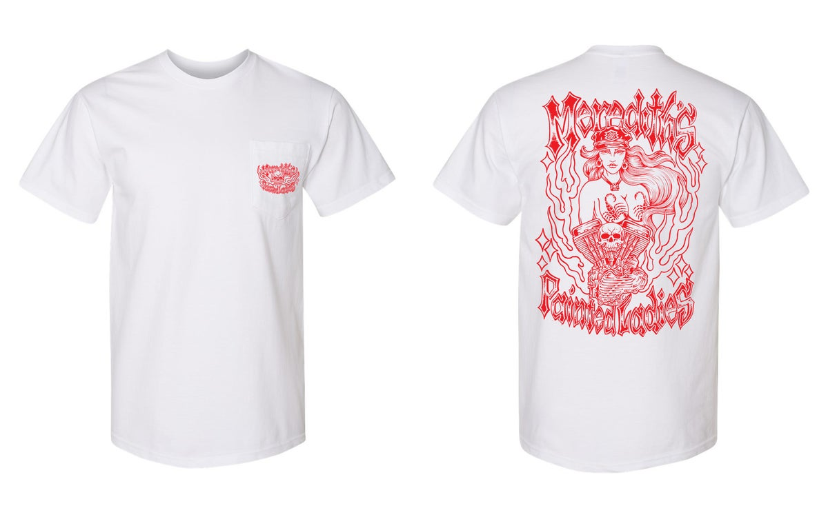Image of Painted Ladies Forever POCKET Tee in White