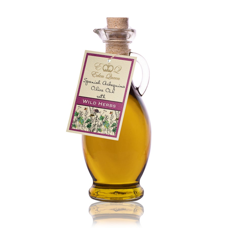 Image of Spanish Arbequina Olives Pressed with Wild Herbs (250ml)
