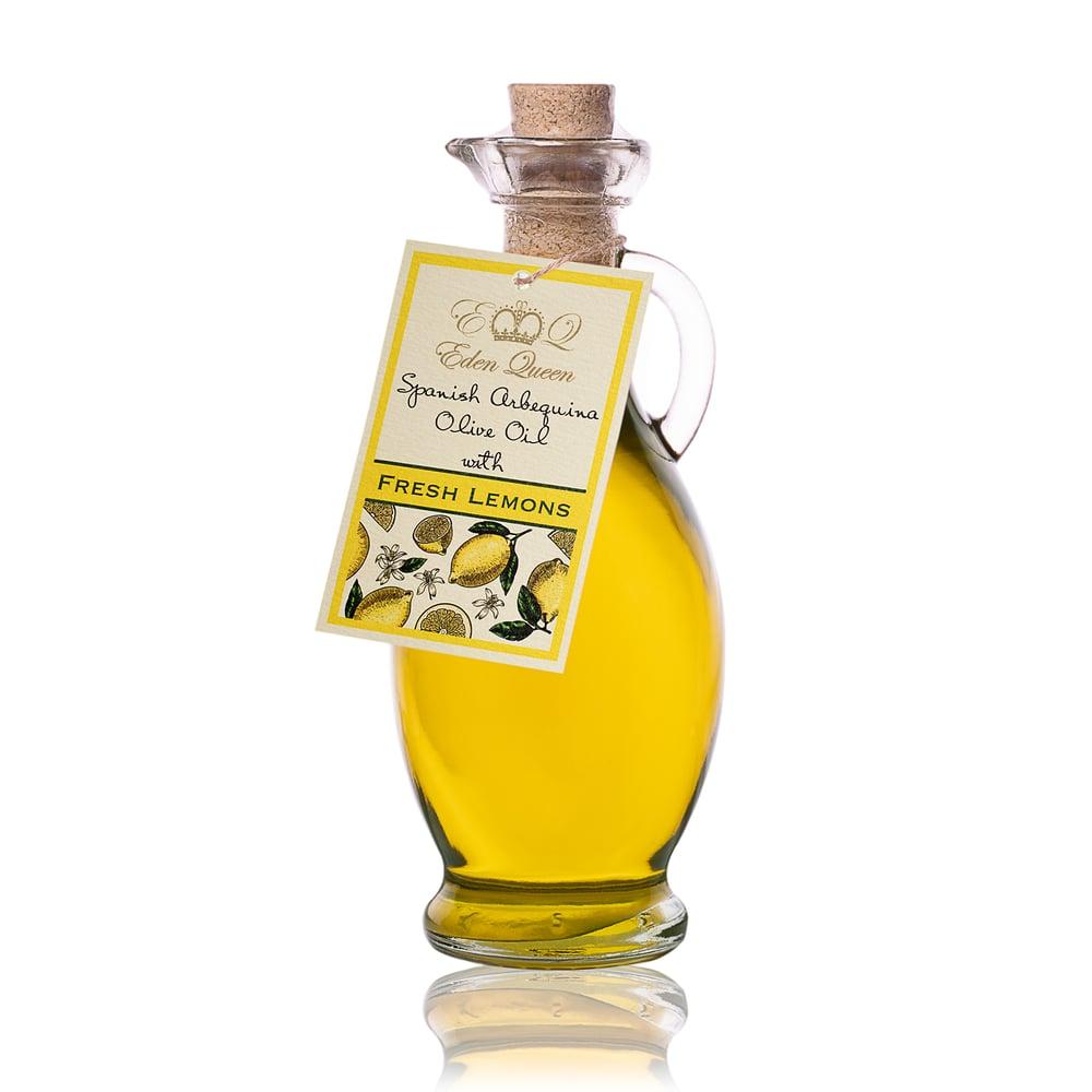 Image of Spanish Arbequina Olives Pressed with Fresh Lemons (250ml)